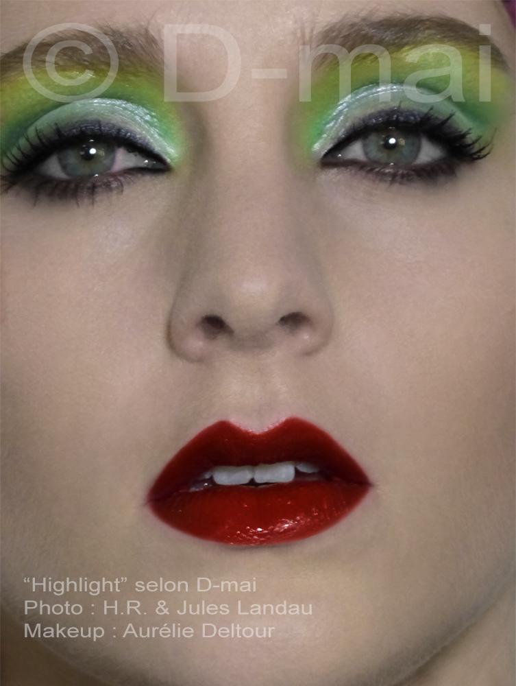 Portfolio D-mai. Makeup Aurélie Deltour. Photo H.R. et Jules Landau.