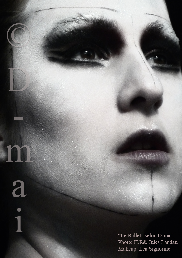 Portfolio D-mai. Makeup Léa Signorino. Photo H.R et Jules Landau.