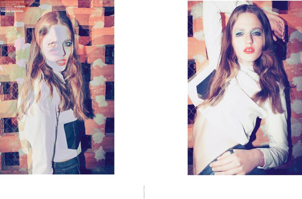 MARIE-CLAIRE Italie. Photo : Arnaud Pyvka - Makeup : Kathy Le Sant pour D-mai Paris